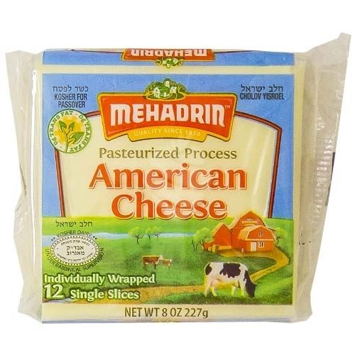 Mehadrin American Cheese 12 Slice, 8 Oz